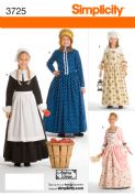 3725 Simplicity Pattern: Child's and Girls' Costumes